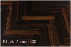 Balck 흑단에 의하여 설계되는 Ahrringbone 목제 마루, UV 래커 Homehold