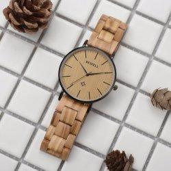 Dernière conception usine directement 3 atm de mode d'alimentation en eau et de bois en acier inoxydable résistant à Don Watch