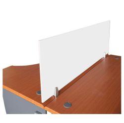 Accessoire de bureau de l'écran de bureau en verre de bord avec connecteur de clip