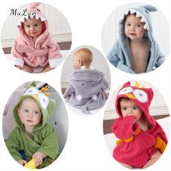 100 % Algodón toalla bebé con capucha Terry Albornoz (Blanco y teñido)