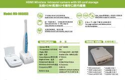 Carte Micro SD sans fil Intraoral dentaire de la caméra avec VGA et HDMI et de sortie vidéo