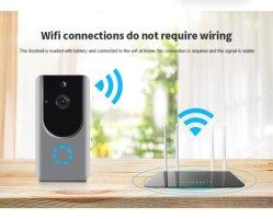 戸口の呼び鈴2の方法音声の通話装置が付いているWiFiのホームセキュリティーの監視IP CCTVのカメラ