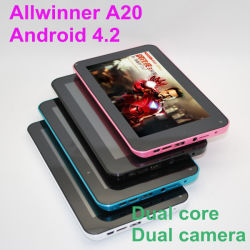 7inch Tablet PC mit Dual Core CPU 2 Cameras