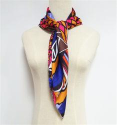 La Plaza de satén mujer Pañuelo de seda moda ligero velo Bufandas