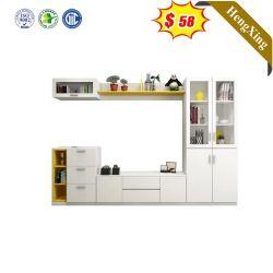 Design chinois Accueil Salle de séjour de luxe moderne de meubles en bois meuble TV avec portes en verre