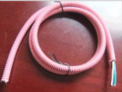 Textilumsponnenes Gewebe-Netzanschlusskabel-Kabel-Set