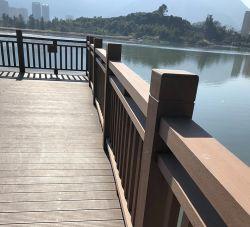 Anti-dérapant Co-Extruded WPC Produits du bois carré de plein air pour SCENIC /main courante de la rambarde de bord de mer /main courante de l'escalier /Garde-corps de pont