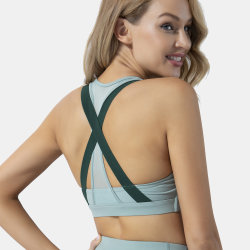 El Yoga Custom Push up Zipper Sexy sujetador deportivo de alto impacto