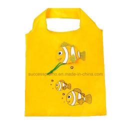 Custom poisson entreposables pliable en forme de sac de magasinage réutilisables