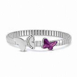 De nieuwe Elegante Magnetische Elastische Armband van het Ontwerp met de Vorm van de Vlinder