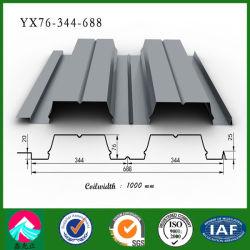 中国 Yx76-344-688 亜鉛めっきスチール床デッキパネル