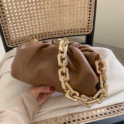 Les femmes de luxe sac d'embrayage Fashion Designer Cloud Mesdames épais Sac à bandoulière chaîne PU souple Lady fourre-tout sac à main