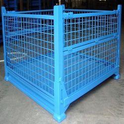 Enduit de poudre d'acier pliable de l'entrepôt de stockage des conteneurs en treillis métallique