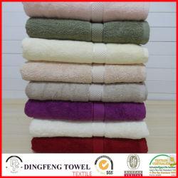 2016 heißes Sales Organic 100% Cotton Thick Jacquard Bath Towel mit Satin Border Df-S359