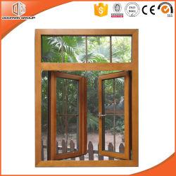 Американский стиль твердых из дуба дверная рама перемещена из алюминия и стекла Maintenance-Free Идеальный эффект древесины дверная рама перемещена окна