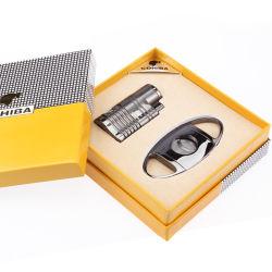 Cohiba Double ouvertures Briquet droites costume avec pinces coupantes de cigares (ES-CA-008)