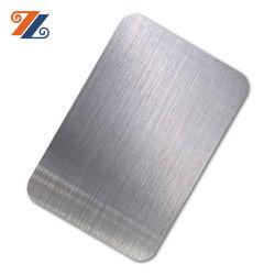 304 PVD ألوان الطلاء خط الشعر الساتان المقاوم للصدأ ورقة من الفولاذ المقاوم للصدأ لمدة لوحة الديكور