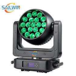 新しいオーラDMXの段階ライト19*25W 4in1 RGBWズームレンズLEDの移動ヘッド照明