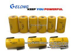 Gelong Ni-MH de nickel-hydrure métallique de forme cylindrique de la taille de la batterie D 11000mAh 1,2V type haute puissance