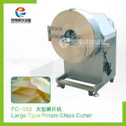 Haute efficacité trancheuse à prix bon marché de la faucheuse de croustilles de pommes de terre de tranches de la machine de coupe