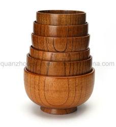 Ciotola di legno di vario formato di alta qualità di marchio dell'OEM