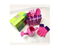 6PCS 나무로 되는 손잡이 아이 원예용 도구는 부대로 놓았다