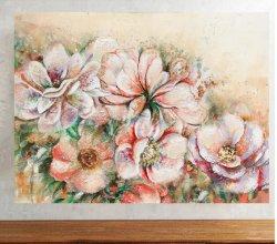 손으로 그린 꽃 캔버스 벽 아트 현대판 유화 현대판 실내 아트워크