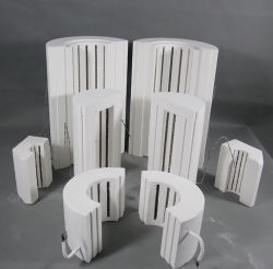 1200c de fibra cerâmica de alumina da câmara do módulo do cilindro de aquecimento para o Forno de forno