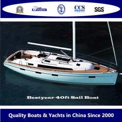 Bestyear 40FT Fiberglss voilier de luxe pour 12 passagers