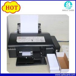Carte d'identification de PVC de blanc d'imprimante à jet d'encre de la taille Cr80 pour l'imprimante de Canon Epson