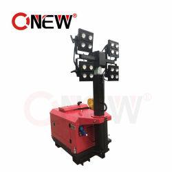 Mástil de 6m 4X1000W 5kw Generador Diesel de Torre de Luz Móvil Remolcable