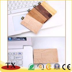 카드 모양 USB 섬광 드라이브 기억 장치 지팡이 나무로 되는 USB