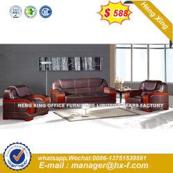 Oficina muebles de cuero Metal Leg sofá con apoyabrazos (HX-F655)