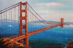 Handmade Golden Bridge de San Francisco de l'huile sur toile peintures