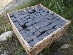 까만 현무암 돌은 도와 연석 또는 돌 또는 연석 포장하는 포장 기계 화강암 격판덮개를 삼승한다