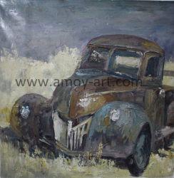 De met de hand gemaakte Oude Olieverfschilderijen van de Auto voor het Decor van de Muur