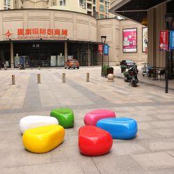 S405 de adoquines de fibra de vidrio Seatin Muebles de Exterior moderno público Silla para Centro Comercial/Hotel/área pública soportar la lluvia y la exposición al sol impermeable silla de plástico reforzado con fibra
