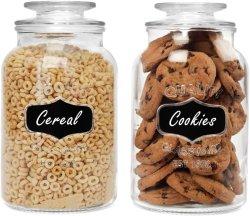 Commerce de gros pot de verre hermétique contenant des aliments ensemble vide Bouteille de verre pour le stockage de cuisine