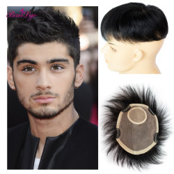 Toupetje 100% van het Haar van de Kleur van het Toupetje van de Jonge Mensen van de Verkoop van China Heet Maagdelijk Zwart Menselijk Haar