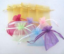 De zachte Zak van de Gift van Organza Drawstring, de Kleine Zak van de Verpakking van het Suikergoed van Drawstring Organza