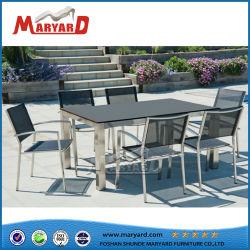 Роскошные современные моды гостиной Стол обеденный стол из закаленного стекла, садовая мебель для использования вне помещений