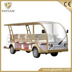 Schönes Doppelventilkegel-Bus-besichtigenauto Entwurfs-China-14 Seater elektrisches