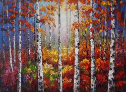 Artigianato selvicoltura Birch Paesaggio tela parete stampe d'arte dipinti ad olio