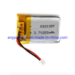 BluetoothイヤホーンまたはHeadset/RCモデルまたは小型ランプのための小さいリチウムイオン電池682030 3.7V 250mAh Lipo電池