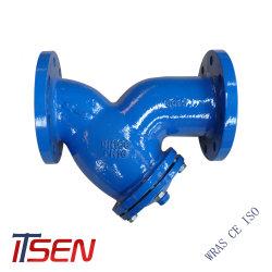 DIN3202 F1 PN10/16 Hierro fundido de Doble brida Y /cesta filtrante para válvula de tratamiento de agua