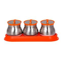 Cuisine ensemble de la cartouche pour le café, thé, sucre ou d'épice / verre fixé pour la cuisine de la cartouche de café compteur / Jeu de 3 rack d'épices