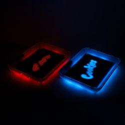 Rolete de plantas daninhas LED portátil LED plástico acrílico Tabaco Incandescentes Material Tra Bandejas de laminagem de LED que serve a bandeja