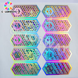 Waterbestendig serienummer QR-code Scratch off Printed Void Tamper Proof Silver Gold Adhesive Anti-Fake Anti-namaak Security Custom Hologram Sticker Label