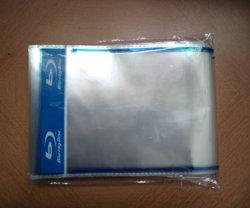 Manicotto di plastica autoadesivo stampato OPP trasparente di Customzied con il doppio marchio blu del raggio