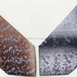 Micro fibra 100% listras de prata dourada de moda casual diariamente Formal Mens Peste gravata de retenção do pescoço